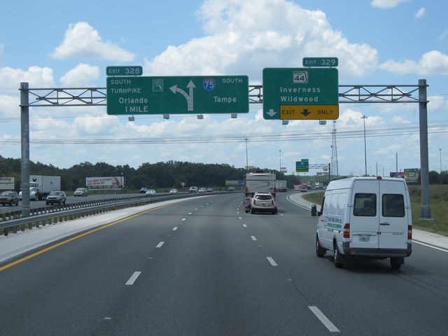 I 75 exits choice image diagram writing sample ideas and guide photos florida interstate 75 southbound crosscountryroads interstate 75 south approaching exit 328 on the left 1 sciox Choice Image