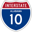 Interstate 10 in Alabama