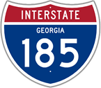 Interstate 185 in Georgia