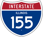 Interstate 155 in Illinois