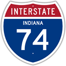 Interstate 74 in Indiana