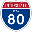 Interstate 80 in Iowa
