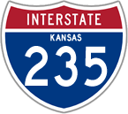 Interstate 235 in Kansas