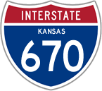 Interstate 670 in Kansas
