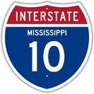 Interstate 10 in Mississippi