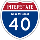 Interstate 40 in New Mexico