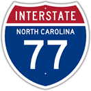 Interstate 77 in North Carolina