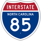 Interstate 85 in North Carolina
