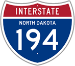 Interstate 194 in North Dakota