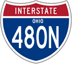 Interstate 480N in Ohio