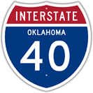 Interstate 40 in Oklahoma