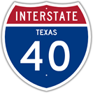 Interstate 40 in Texas