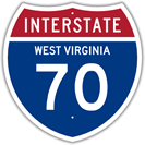 Interstate 70 in West Virginia