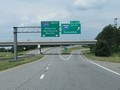Interstate 185 South at Exit 1B: Interstate 385 South - Columbia (Photo taken 5/27/17).